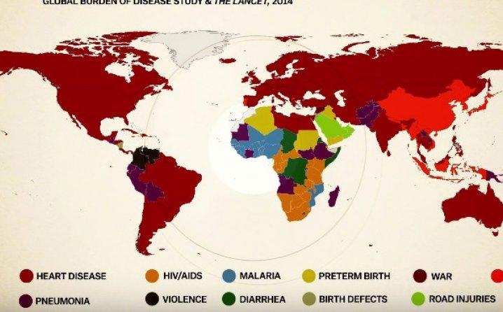 Lista bolesti od kojih se umire u svijetu